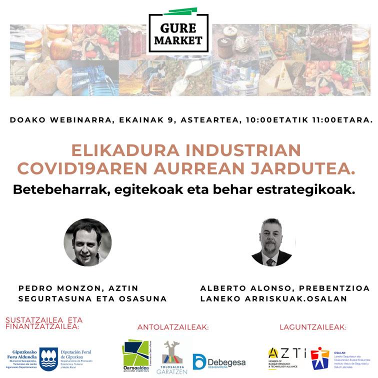 """Presentación Webinar 1 – #GureMarket """"Actuación frente al COVID-19 en la industria alimentaria. Obligaciones, deberes y necesidad estratégica"""""""